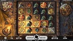 Lost Relics Slot Gameplay - NetEnt / CasinoKings.com