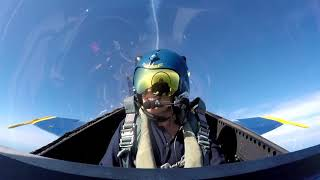 Cleveland.com reporter flies with Blue Angels. Spoiler alert: she passes out and pukes