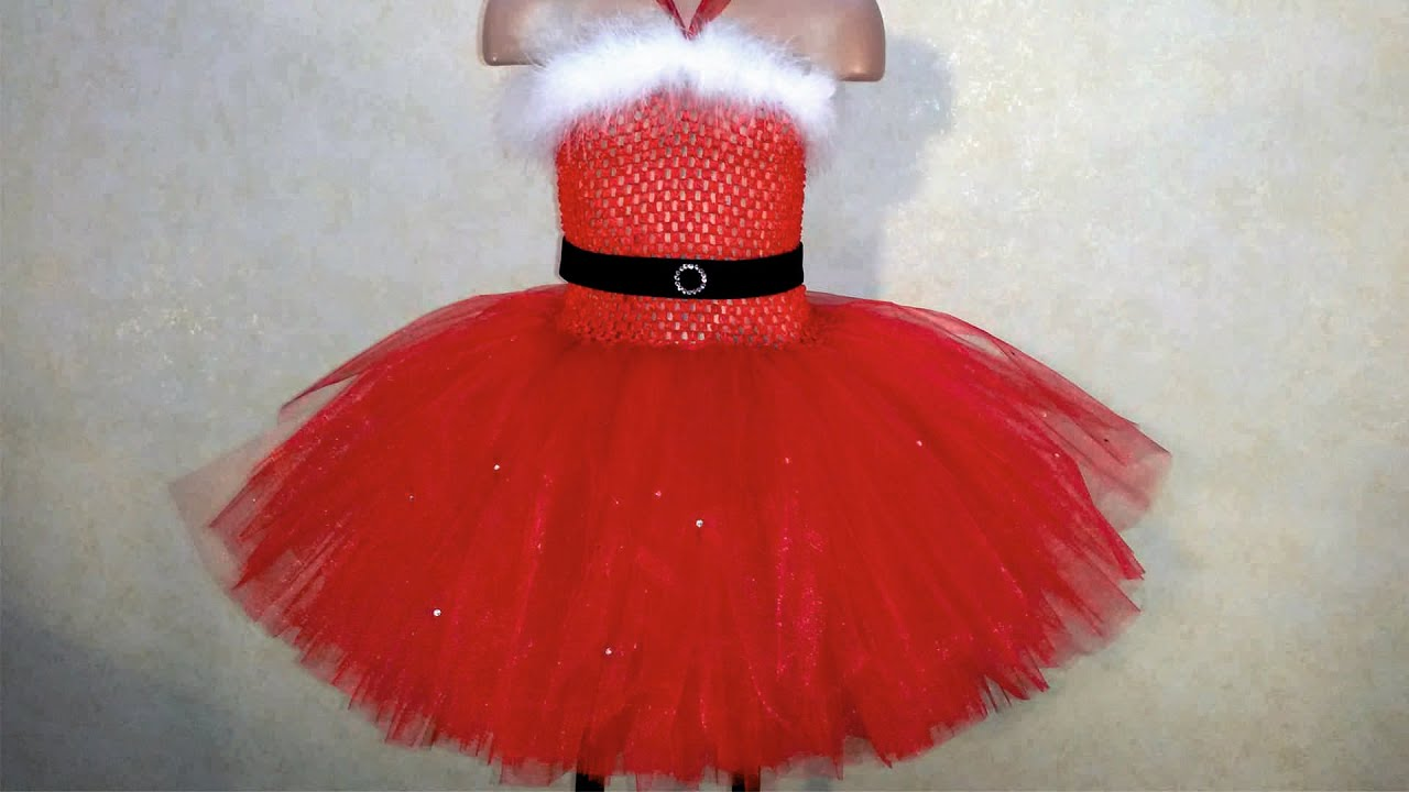 Christmas dress tutu overview youtube