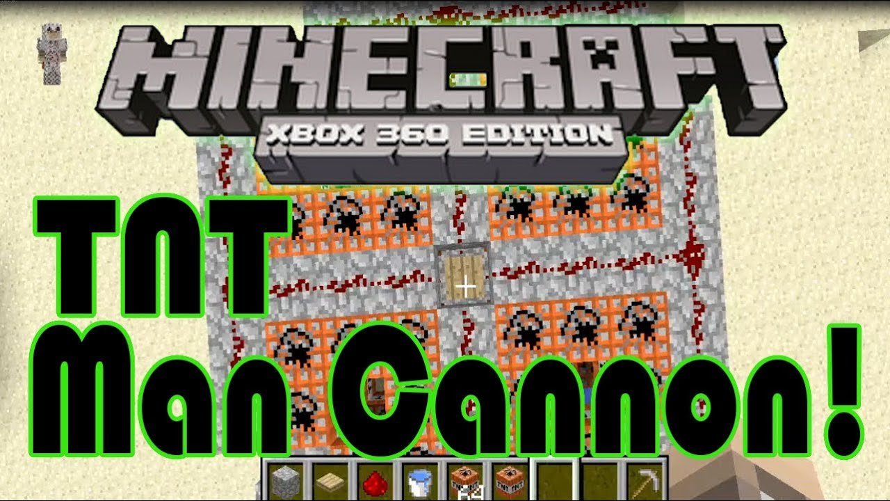 Worksheet. How to build a TNT man cannon Minecraft xbox 360 edition tutorial
