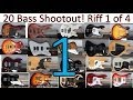 20 Bass Shootout - Part 1 - Bridge Finger Style