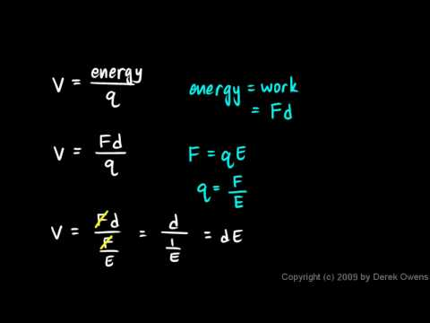 Physics 12.4.3a - Voltage Electric Fields and Distance