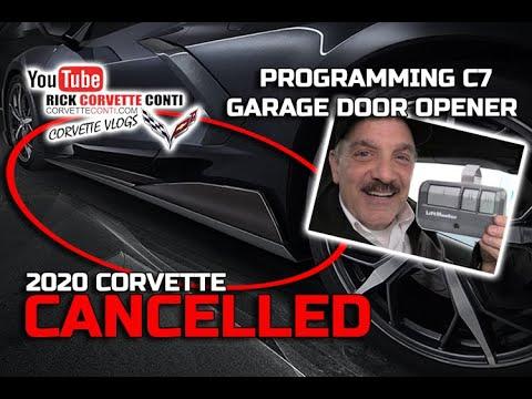 2020 Corvette Option Cancelled Programming Garage Door Opener On C7 Youtube