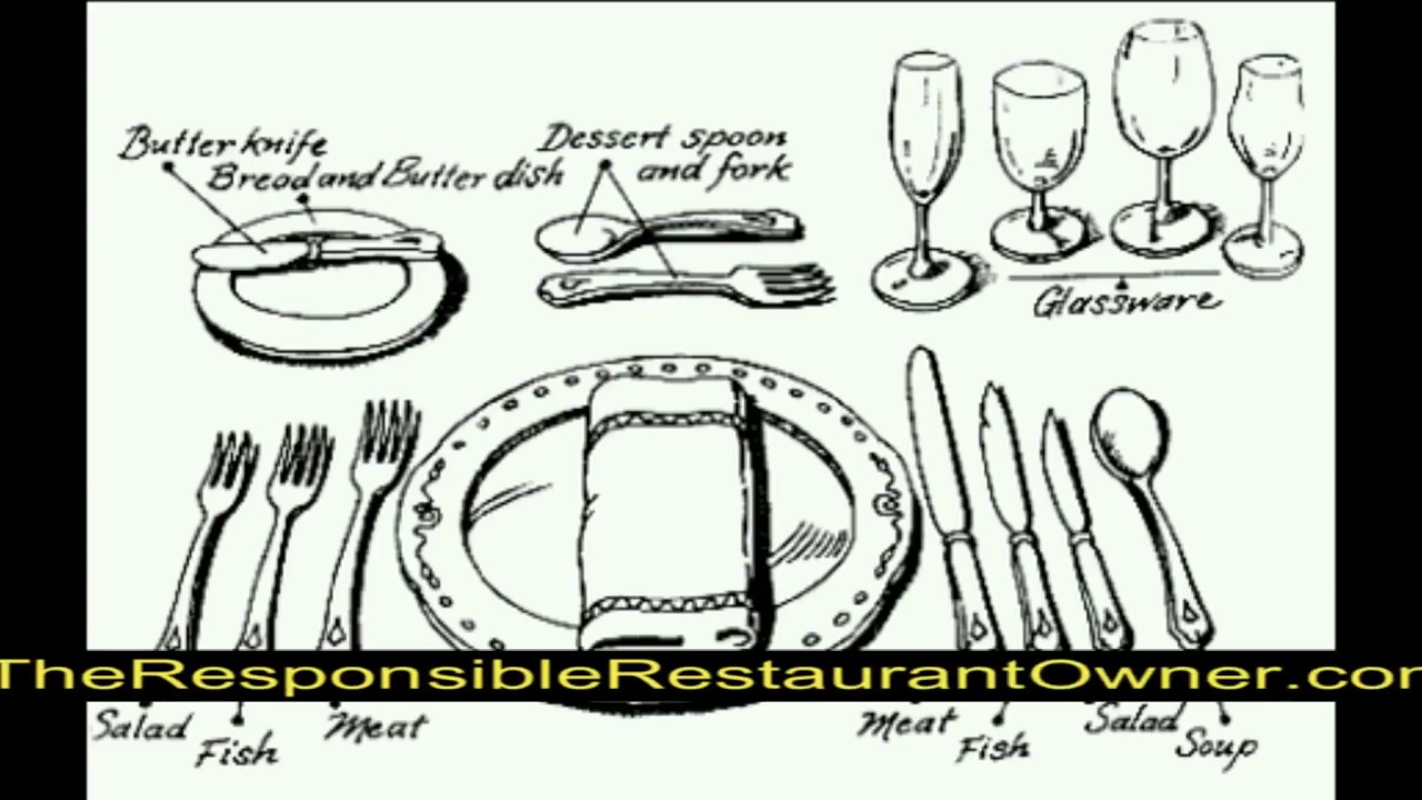 Fine Dining Table Manners