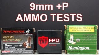 9mm 124 gr P Ammo Tests  PDX1 TAP Golden Saber Bonded