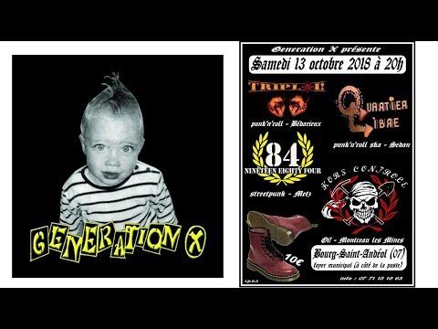 concert punk, génération x   bourg saint andéol