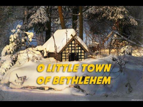 O Little Town of Bethlehem (lyrics video for karaoke)