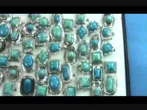 antique vintage style genuine turquoise gemstone rings wholesalesarong.com