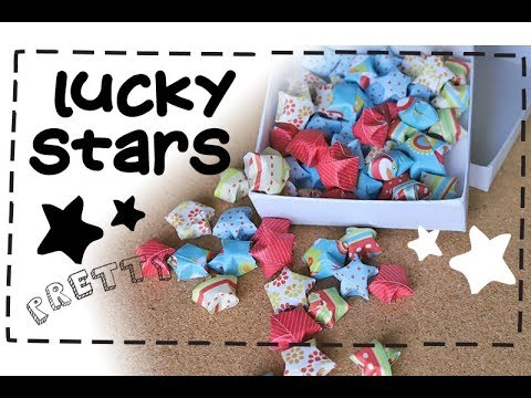 How to Make Lucky Stars ⭐ | Easy Origami