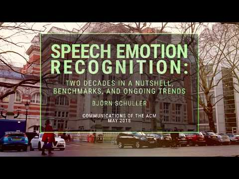 CACM May 2018 - Speech Emotion Recognition