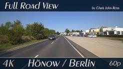 Hönow/Berlin, Germany: Berliner Straße, Landsberger Chaussee - 4K (UHD/2160p/60p) Video