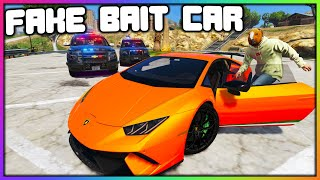 GTA 5 Roleplay - STEALING CARS WITH FAKE BAIT CAR | RedlineRP