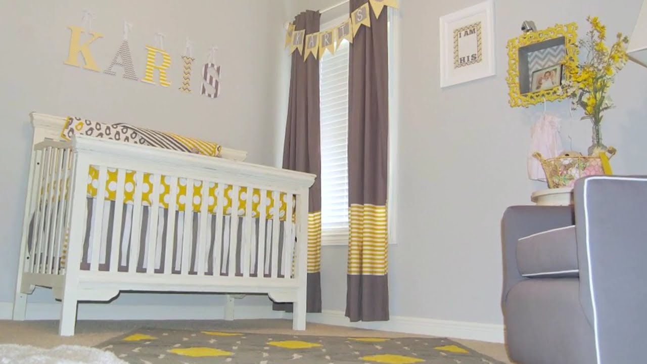 a trendy diy nursery on a budget youtube