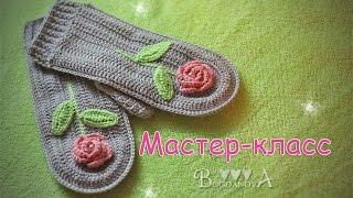 Как связать варежки крючком. How to crochet mittens