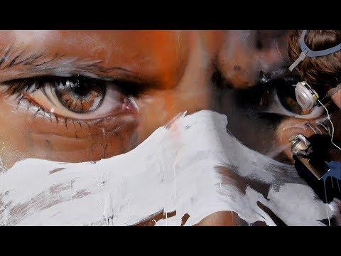 Adnate - Realism Artist Paints a Big Canvas plus he