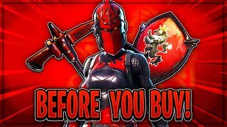 "RED KNIGHT OUTFIT + CRIMSON AXE ""Before You Buy!"" (Red Knight Leaks!) - Fortnite: Battle Royale"