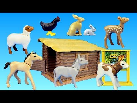 Playmobil Children's Petting Zoo Farm Animals Building Set - Animals for children