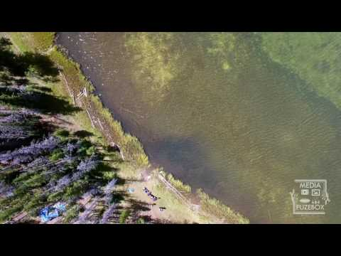 Lyman Lake and campground aerial view