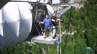 Банджи-джамп 207 метров в Скайпарке Сочи (боковые камеры)
