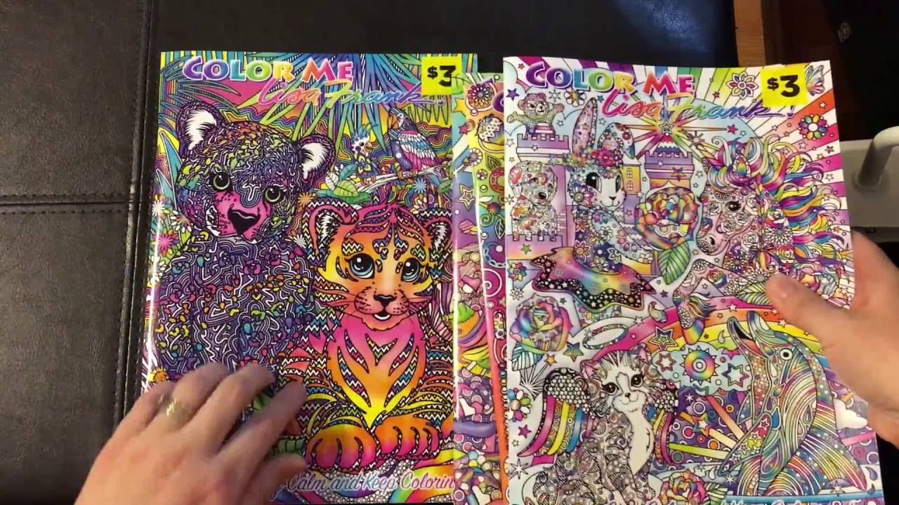 Lisa Frank Adult Coloring Book Color Me Flip Through Review - YouTube