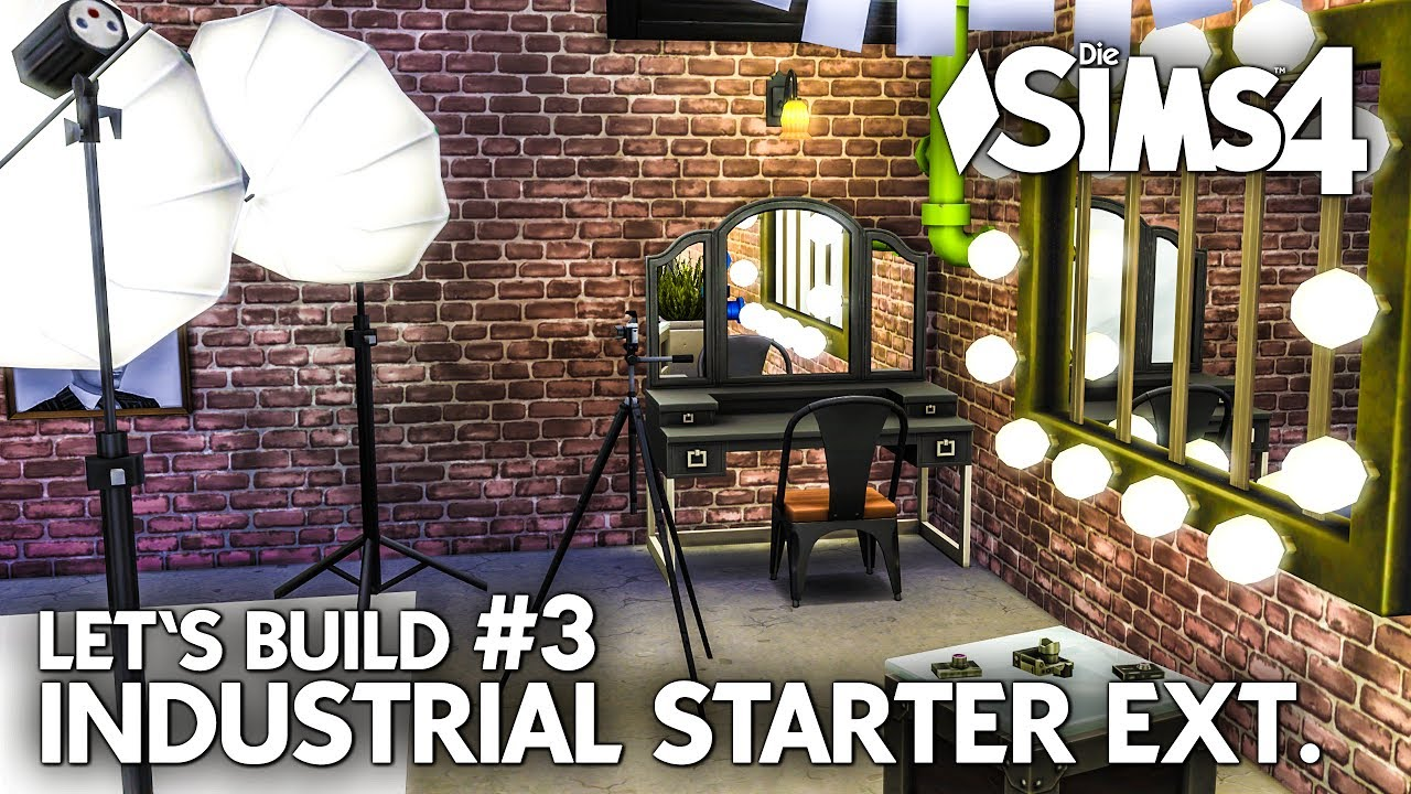 haus bauen in die sims 4 industrial starter extended 3 let 39 s build deutsch youtube. Black Bedroom Furniture Sets. Home Design Ideas