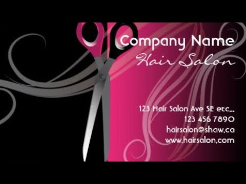 Salon business cards youtube salon business cards colourmoves