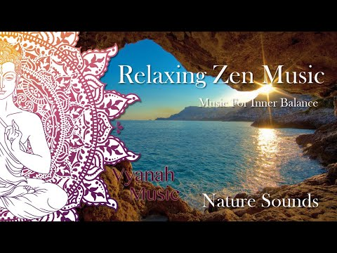 Relaxing Music With Nature Sounds and Flute - Calm Sea & Crickets