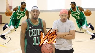 KYRIE IRVING VS TRASH TALKER BJ GROOVY... ( MOST INTENSE GAME YET)