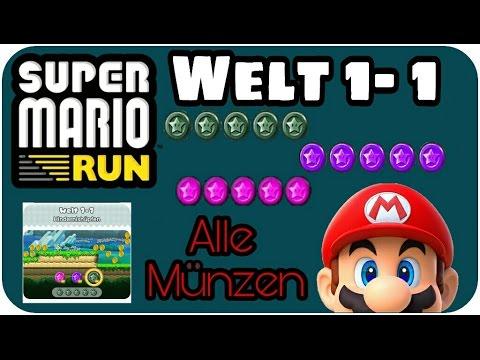 Super Mario Run Welt 1 1 Alle Münzen Youtube