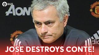 JOSE MOURINHO DESTROYS ANTONIO CONTE! Press Conference Man Utd 2-0 Derby County