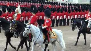 Her Majesty the Queen arrives at Trooping the Colour 16/06/2012