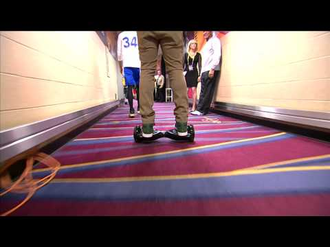 J.R. Smith Arrives in Style on Motorized Scooter