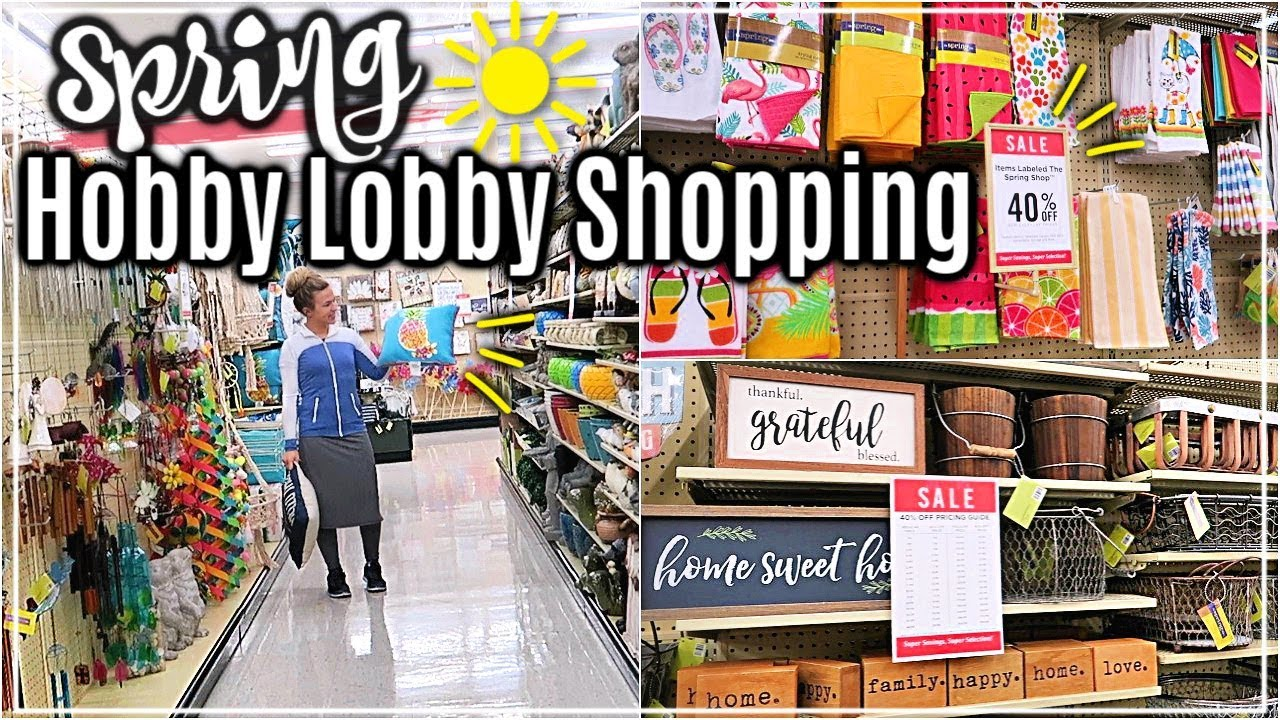 ULTIMATE HOBBY LOBBY SHOP WITH ME SPRING 2019🌷| HOBBY ... on Hobby Lobby Online Shopping id=75234
