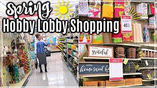 ULTIMATE HOBBY LOBBY SHOP WITH ME SPRING 2019🌷| HOBBY LOBBY HAUL