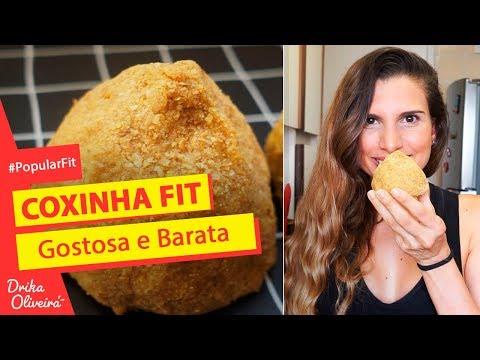 3 OPÇÕES DE COXINHA FIT GOSTOSA E BARATA (R$ 1,50 cada) - por Drika Oliveira