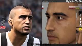 Fifa 15 vs PES 2015 Face Comparison