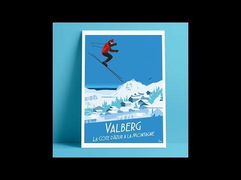 """""""valberg---la-côte-d'azur-à-la-montagne,-2017""""-affiche,-poster-by-eric-garence---bonjourlaffiche.com"""