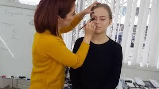 Запись прямого эфира: свадебный макияж растушеванная стрелка