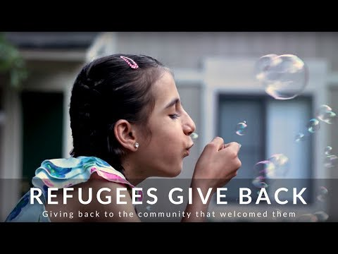Refugees Give Back