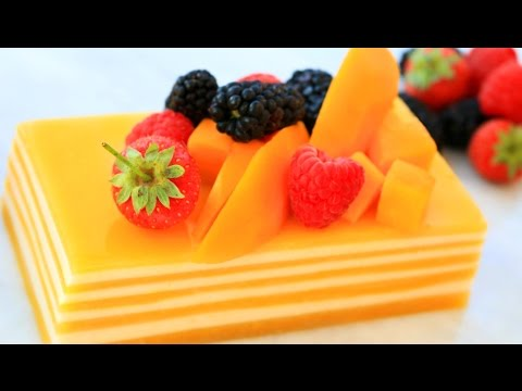 How To Make Mango Coconut Jelly Cake | Mixed Fruit Jelly Recipe | Agar Agar Dessert | Party Food