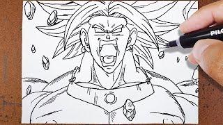 Como Desenhar BROLY O Lendário Super Saiyajin [Dragon Ball Z]
