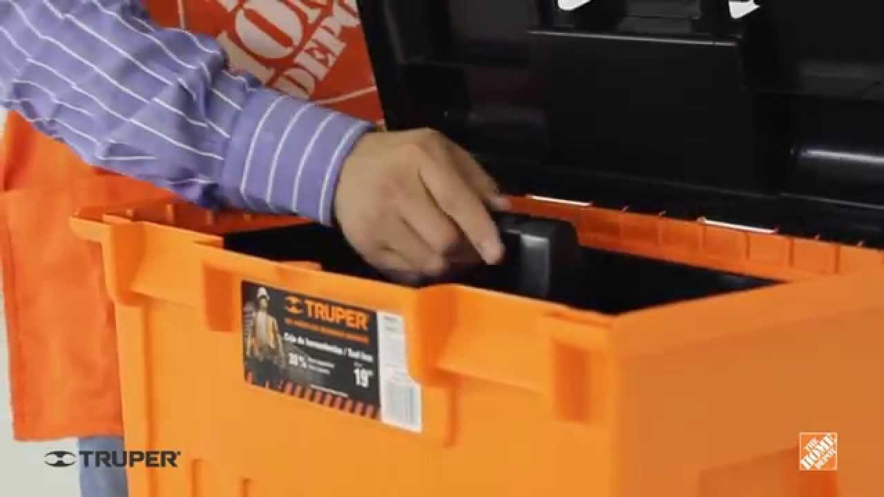 Caja para herramientas de 19 truper youtube for Home depot herramientas