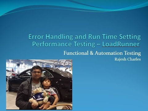 LoadRunner Error Handling and  Runtime Setting