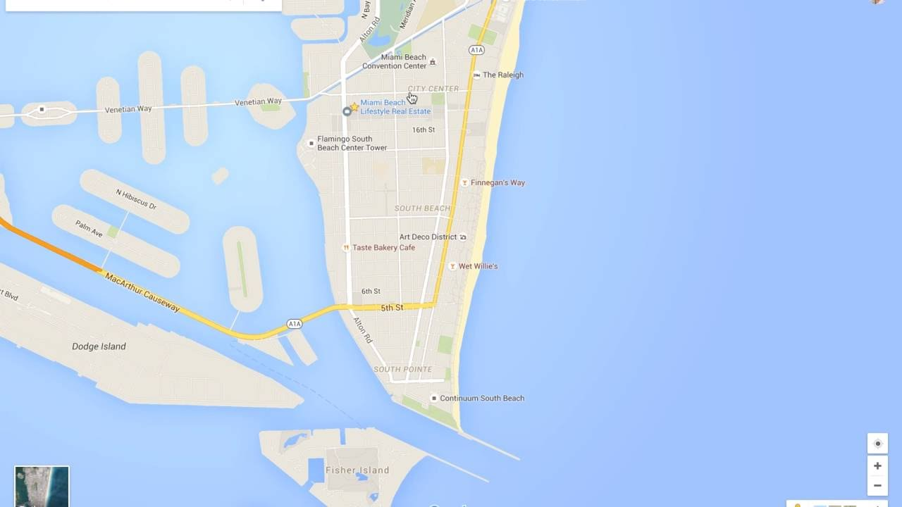 Miami Beach Neighborhood Tour & Google Maps Walkthru - YouTube