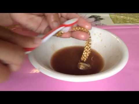 เทคนิคล้างเครื่องประดับด้วยน้ำมะขามเปียกสดใสเว่อร์
