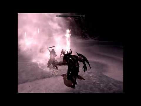 Skyrim Battles - The Ebony Warrior vs Miraak, Lord Harkon, Alduin, Ancano, & Mercer Frey.!!!