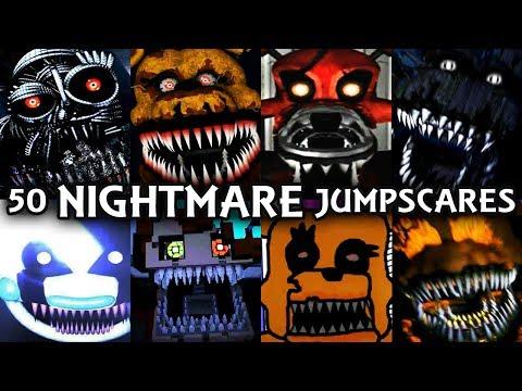 50 NIGHTMARE JUMPSCARES! | FNAF & Fangame