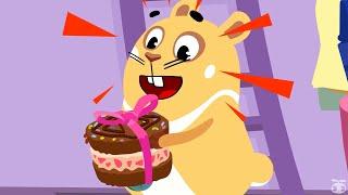 Хомяк Грампи Грэг Торт с сюрпризом серия 134 Забавный мультик для детей