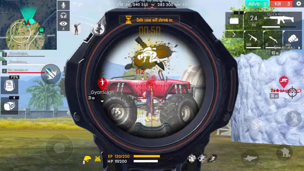 Eliminating Pro Players Of Free Fire Ff Live Gameplay Youtube