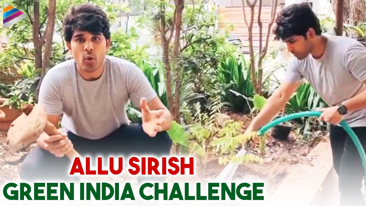 Allu Sirish Accepts Vishwak sen's Green India Challenge | Haritha Haram | Allu Sirish